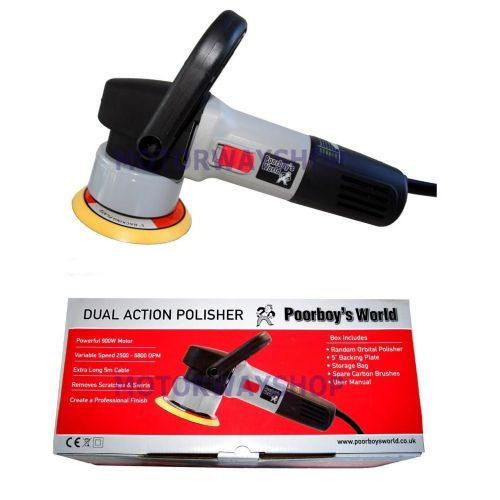 Poorboys DA Dual Action Machine Polisher 900w With Bag